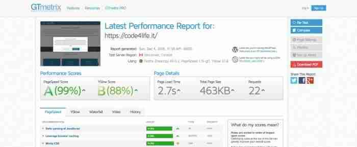 Come misurare le prestazioni del tuo sito web - GTmetrix