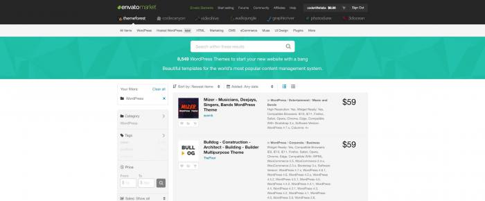 ThemeForest: dove trovare temi per WordPress - Temi premium