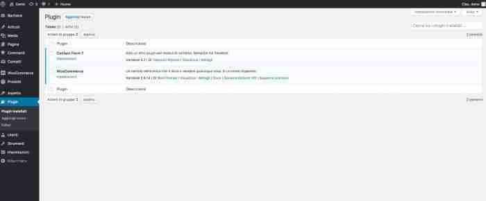 Evitare la disattivazione dei plugins di WordPress - Dopo