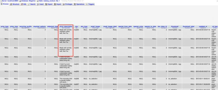 Come aggiornare gli indici su Magento - Flat catalog