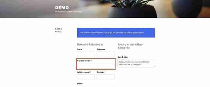 """Come personalizzare WooCommerce: il checkout - Campo """"Ragione sociale"""" obbligatorio"""