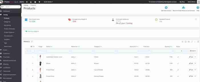 Personalizzare PrestaShop: la lista prodotti nel backend - Elenco prodotti
