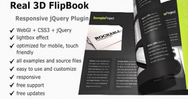 Real3D FlipBook jQuery Plugin