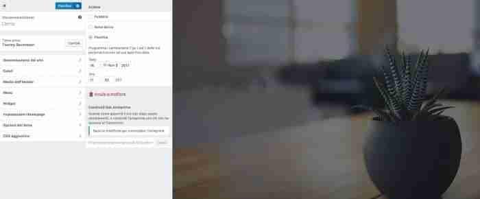 Scopri il nuovo WordPress 4.9 - Scheduler