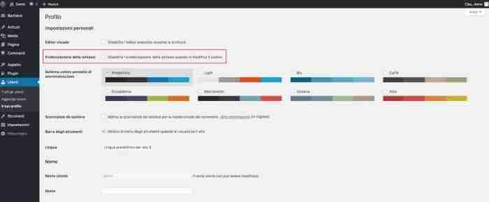 Scopri il nuovo WordPress 4.9 - Disabilita CodeMirror