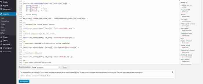 Scopri il nuovo WordPress 4.9 - CodeMirror avviso errore sintassi