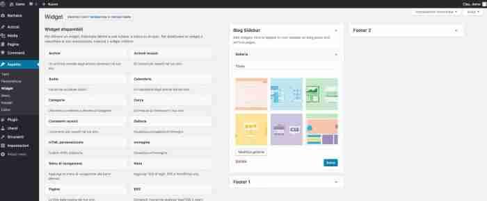 Scopri il nuovo WordPress 4.9 - Widget Galleria