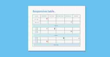 Come creare una tabella responsive