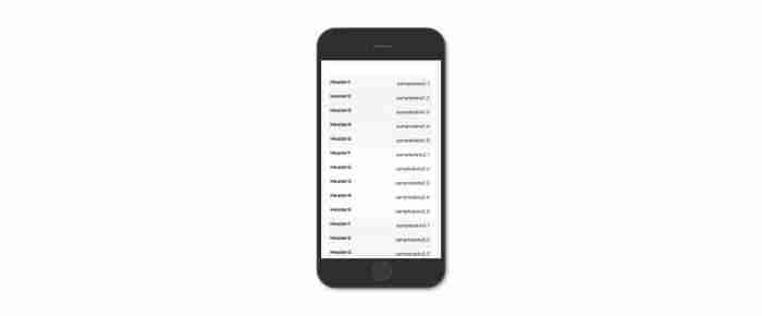 Come creare una tabella responsive - La tabella su smartphone