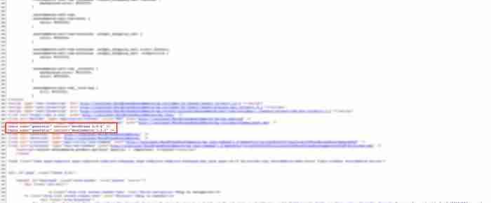 Nascondere la versione di WordPress - Codice sorgente