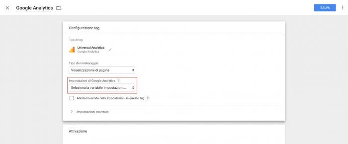 Come anonimizzare Google Analytics - Tag Manager Tag
