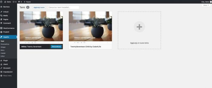Come creare un tema child per WordPress - Child theme
