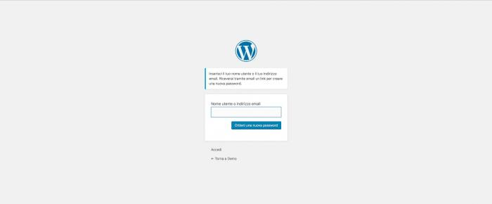 Disabilitare il cambio password in WordPress - Reset password
